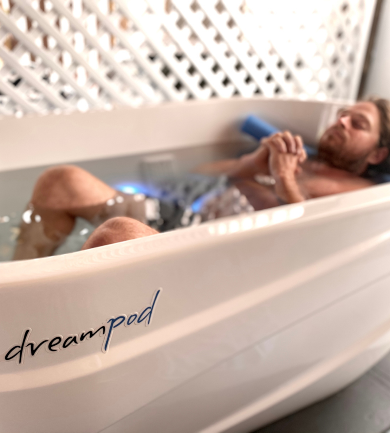 ice bath in dreampod for recovery therapy in Byron and bay and south golden beach