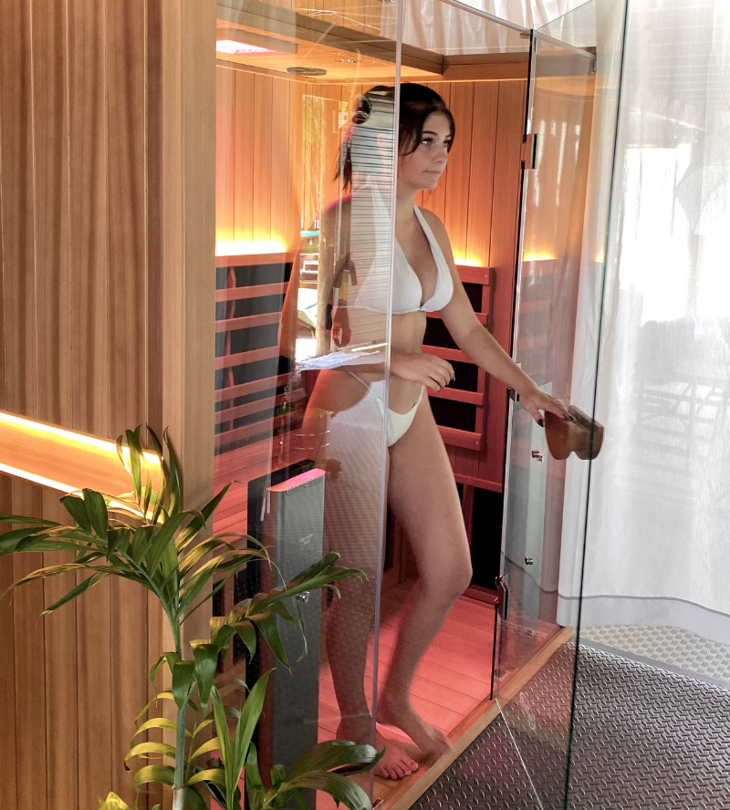 Sauna for recovery therapy in Byron Bay and South Golden Beach